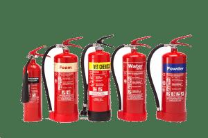 Fire Extinguishers, foam, water, powder, gas